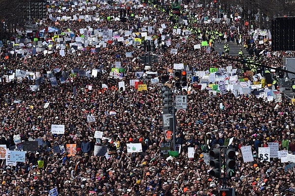 March For Our Lives to end gun violence, Washington DC, March 24, 2018