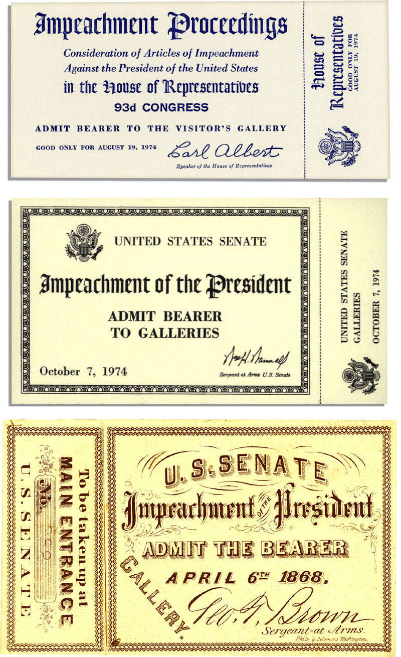 impeachment tickets