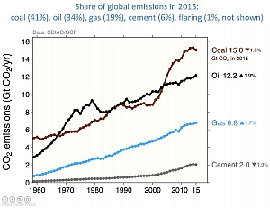 share of global carbon emissions 1960-2015