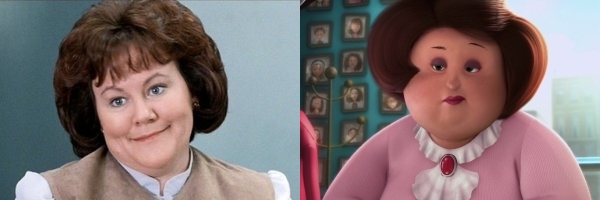 Grace from Ferris Bueller and Miss Hattie from Despicable Me