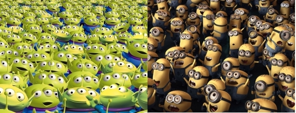 Martians from Toy Story and Minions from Despicable Me