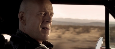 Bruce Willis gives a look