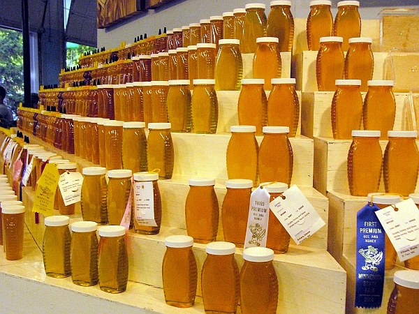 honey display at the 2006 Minnesota State Fair