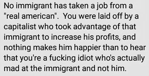 no immigrant has taken jobs