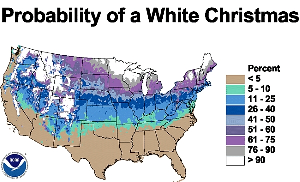 White Christmas chances - you are here
